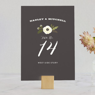 Boheme Wedding Table Numbers