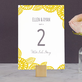 Bold Block Print Wedding Table Numbers