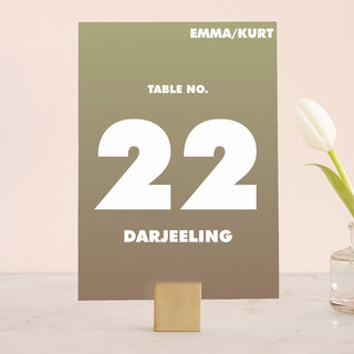 Charge Ahead Wedding Table Numbers