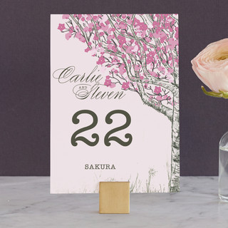 Cherry Blossom Wedding Table Numbers