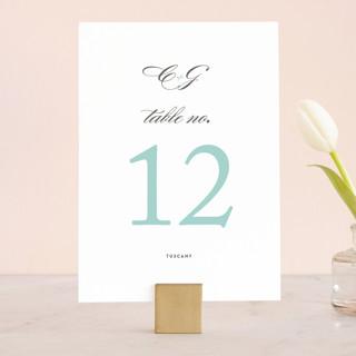 Cordial Flourish Wedding Table Numbers