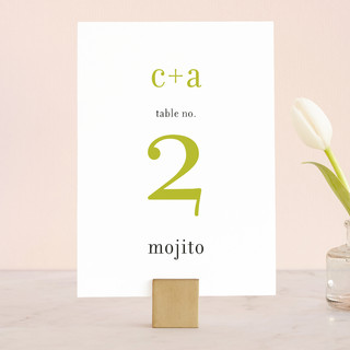 float + celebrate Wedding Table Numbers