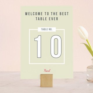 Invitation-O-Matic Wedding Table Numbers