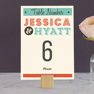 MidCentury Poster Board Wedding Table Numbers