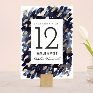 Midnight And Gold Wedding Table Numbers