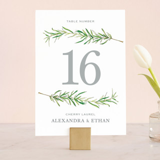 Simple Sprigs Wedding Table Numbers