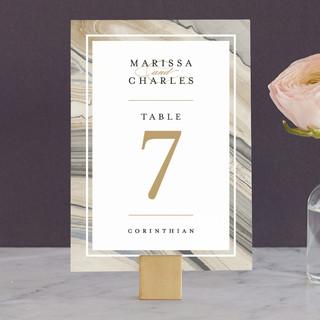 Elegant Marble Wedding Table Numbers