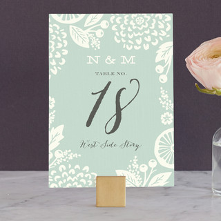 Floral Silhouette Wedding Table Numbers