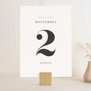 Modern Initials Wedding Table Numbers