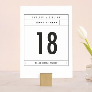 Between The Lines Wedding Table Numbers