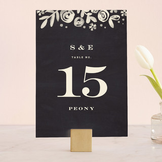 Sun Bleached Florals Wedding Table Numbers