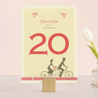 Journey Together Wedding Table Numbers