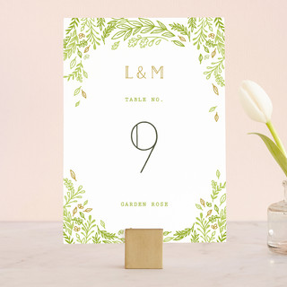 Gathering Of Leaves Wedding Table Numbers