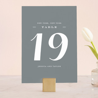 Just Lovely Wedding Table Numbers