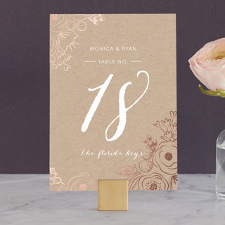 Miss Monica Wedding Table Numbers