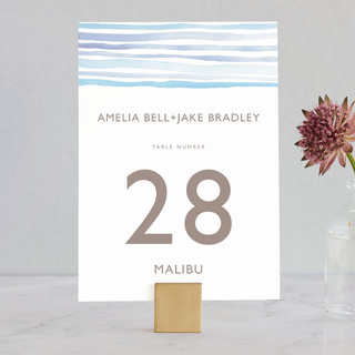 Horizon Wedding Table Numbers