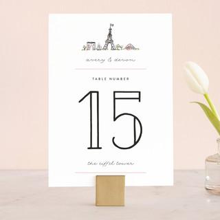Darling Day Paris Wedding Table Numbers