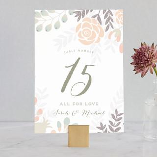 Flower Burst Wedding Table Numbers