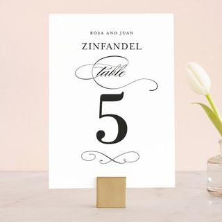 Formal Ink Wedding Table Numbers