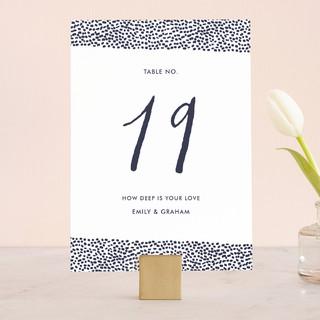 Sprinkled Love Wedding Table Numbers