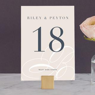 Fresh Monogram Wedding Table Numbers