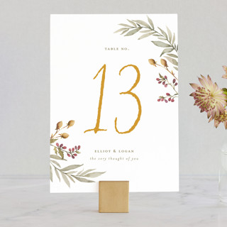 Summer Love Wedding Table Numbers
