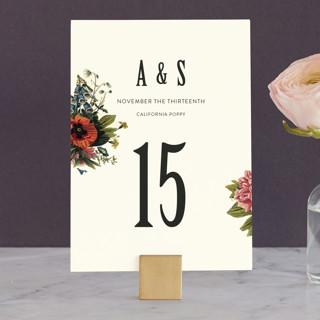 Vintage Garden Invite Wedding Table Numbers