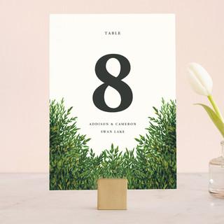 The Garden Wedding Table Numbers