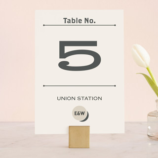 A Blessed Union Wedding Table Numbers