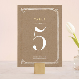 Hand Delivered Wedding Table Numbers