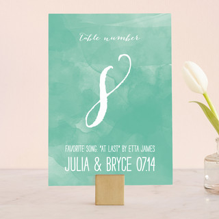 Bohemian Beach Wedding Table Numbers