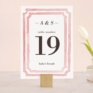 Watercolor Frame Wedding Table Numbers