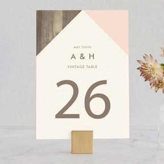 Modern Barn Wood Wedding Table Numbers
