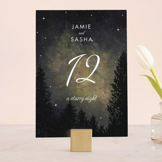 Starry, Starry Night Wedding Table Numbers
