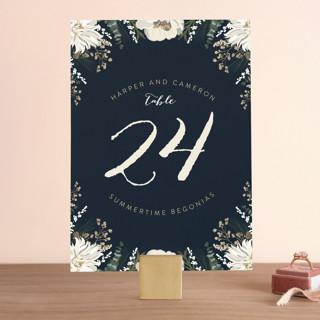 Peonies & Berries Wedding Table Numbers