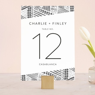 Anthropology Museum Wedding Table Numbers
