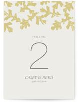 Autumn Leaves Wedding Table Numbers