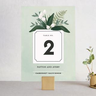 Botanical Name Plate Wedding Table Numbers