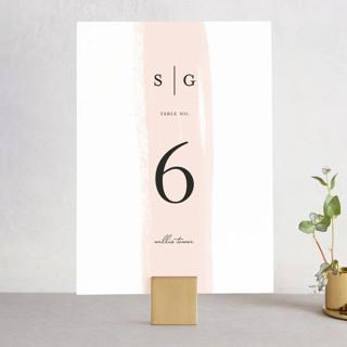 Single Swath Wedding Table Numbers