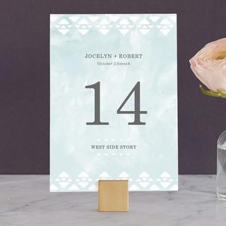 Desert Oasis Wedding Table Numbers