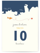Two Grooms Destination Wedding Table Numbers