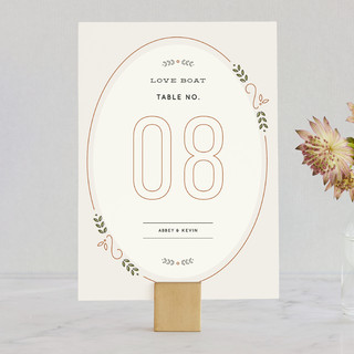 The Union Wedding Table Numbers