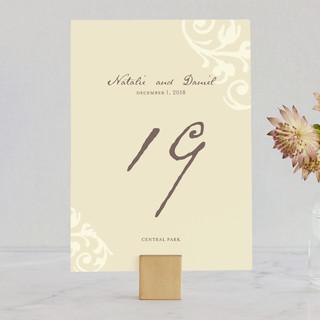 Elegant Flourish Wedding Table Numbers