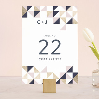 Lovely Geo Wedding Table Numbers