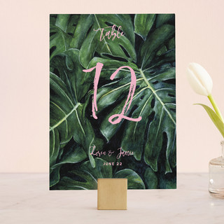 Paradise Wedding Table Numbers