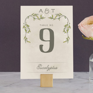 Rustic Love Wedding Table Numbers