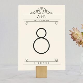 Deco Nouveau Wedding Table Numbers