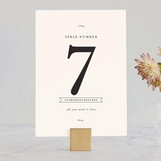 Astor Wedding Table Numbers