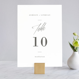 Stacked date Wedding Table Numbers