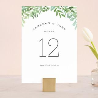 Leafy ampersand Wedding Table Numbers
